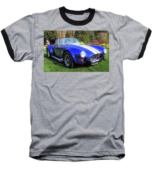 Blue 427 Shelby Cobra In The Garden Baseball T-Shirt