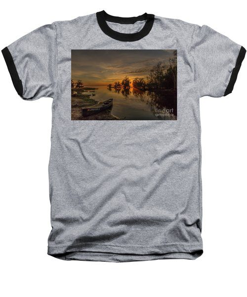 Blue Cypress Canoe Baseball T-Shirt