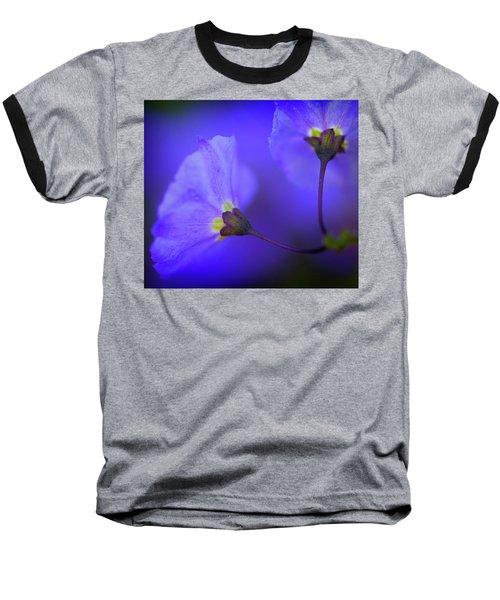 Blue Flower Baseball T-Shirt