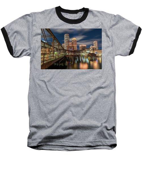 Blue Hour In Boston Harbor Baseball T-Shirt