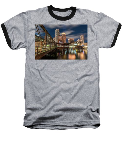 Blue Hour In Boston Harbor Baseball T-Shirt