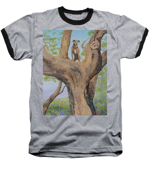 Blue Lacey In A Tree Baseball T-Shirt
