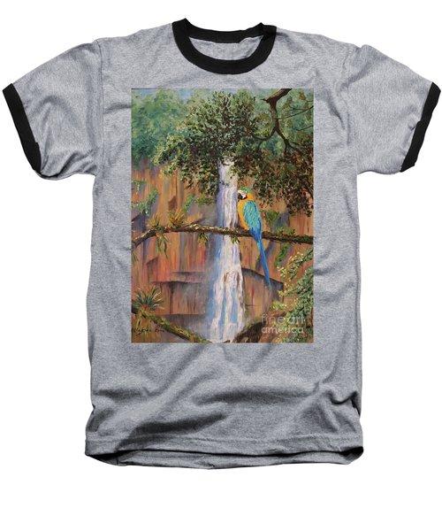 Blue Macaw Baseball T-Shirt