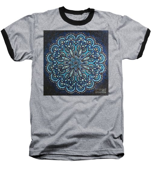Blue Mandala Baseball T-Shirt