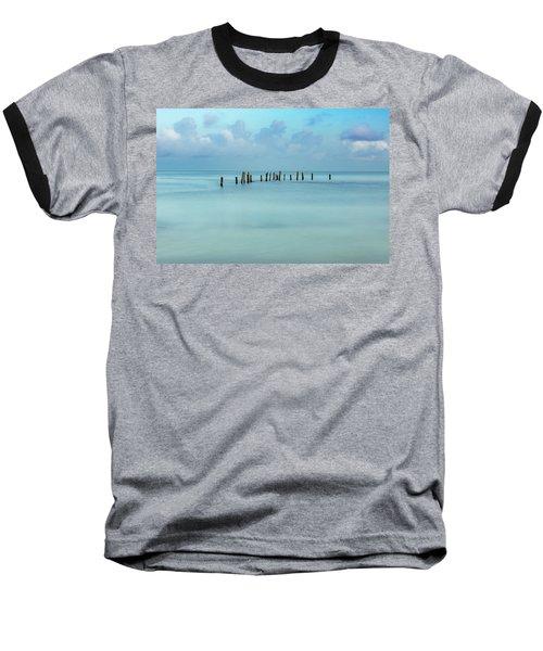 Blue Mayan Sea Baseball T-Shirt