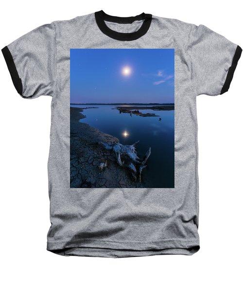 Blue Moonlight Baseball T-Shirt