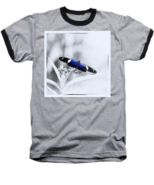 Blue Postman Butterfly Baseball T-Shirt