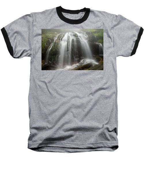 Blue Ridge Mountain Falls Baseball T-Shirt