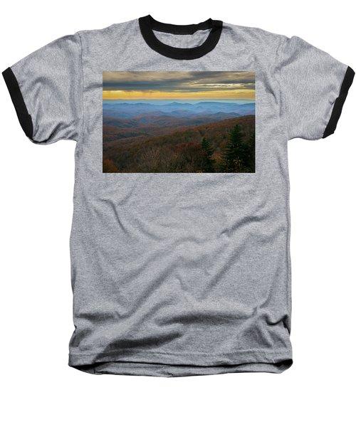 Blue Ridge Parkway - Blue Ridge Mountains - Autumn Baseball T-Shirt