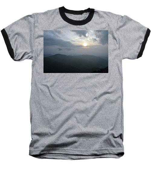 Blue Ridge Parkway Sunset Baseball T-Shirt