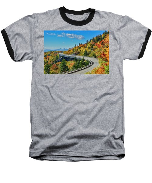 Blue Ridge Parkway Viaduct Baseball T-Shirt