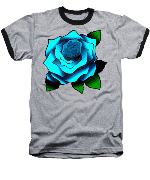Blue Rose Baseball T-Shirt