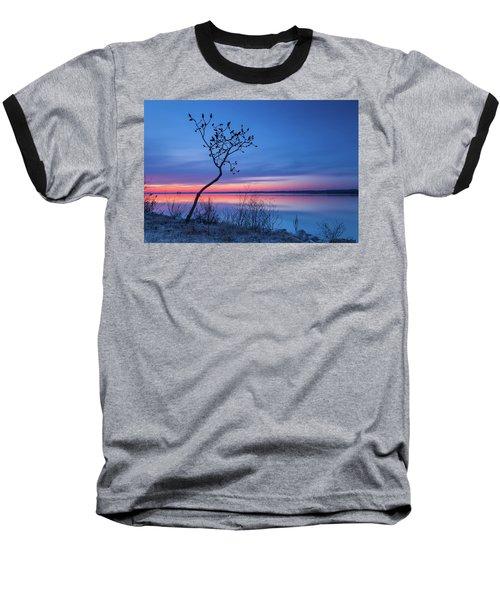 Blue Silence Baseball T-Shirt