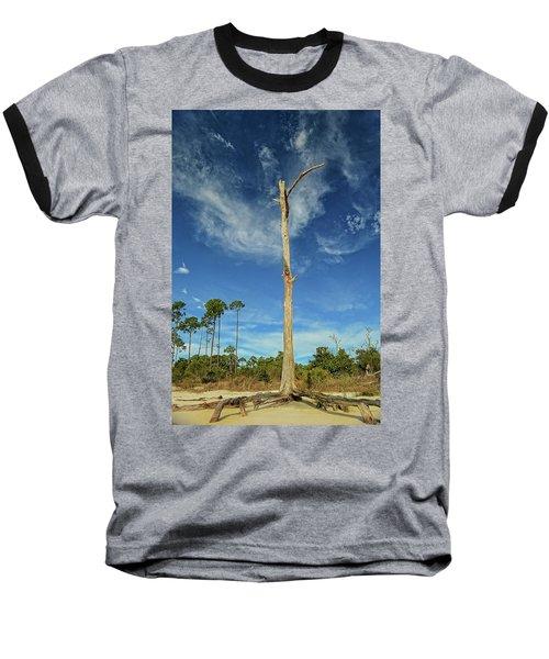Blue Skies And Broken Branches Baseball T-Shirt