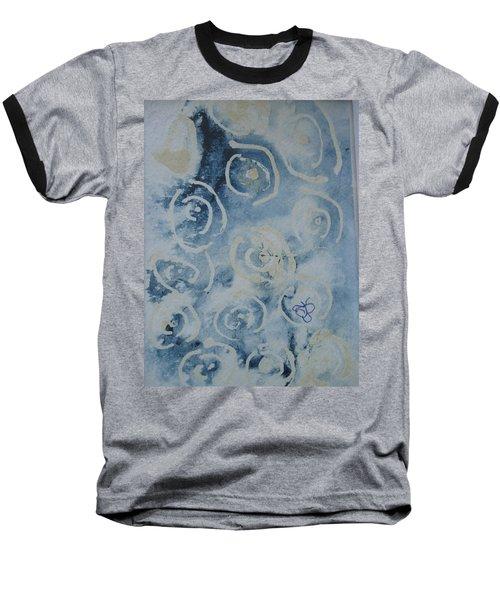 Blue Spirals Baseball T-Shirt