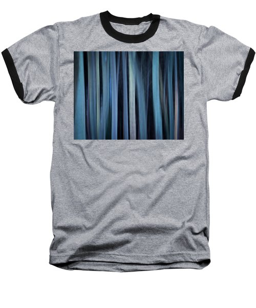 Blue Trees 1 Baseball T-Shirt
