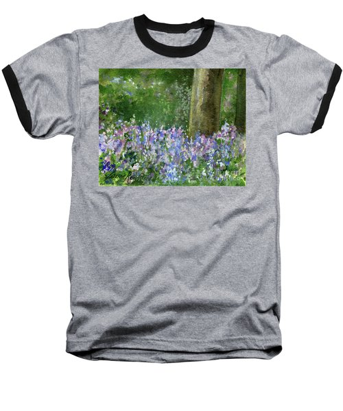 Bluebells Under The Trees Baseball T-Shirt