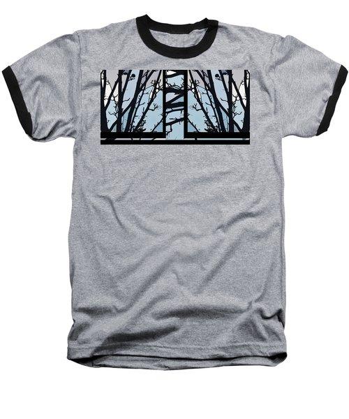Blues - Barely Spring Abstract - Baseball T-Shirt