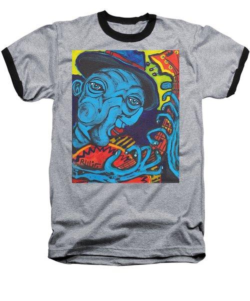 Blues Dude Baseball T-Shirt