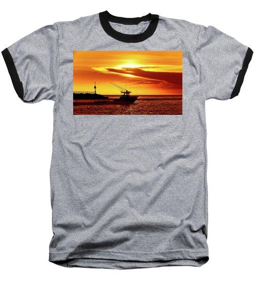 Boat Headed Out Of Jupiter Inlet Baseball T-Shirt