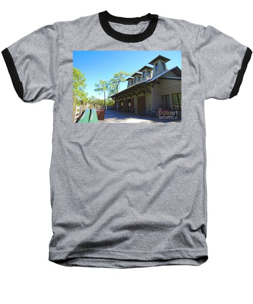 Boathouse In Watercolor Baseball T-Shirt
