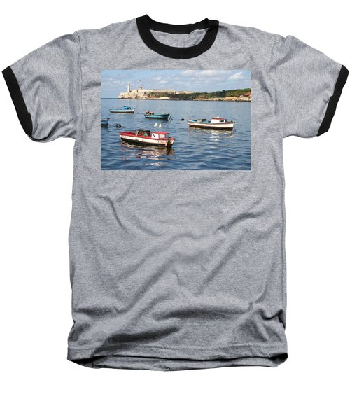 Boats In The Harbor Havana Cuba 112605 Baseball T-Shirt