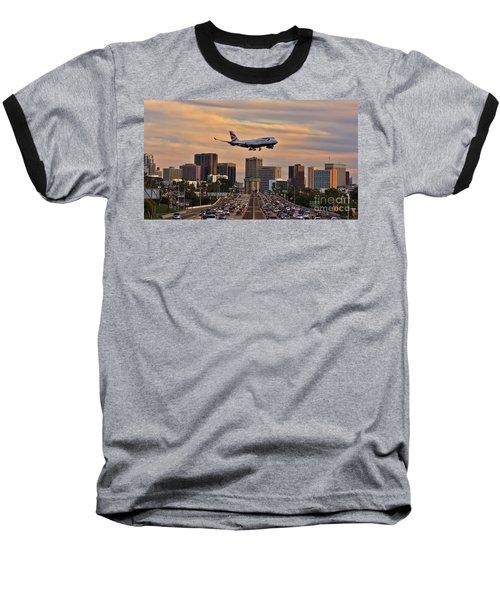 Boeing 747 Landing In San Diego Baseball T-Shirt
