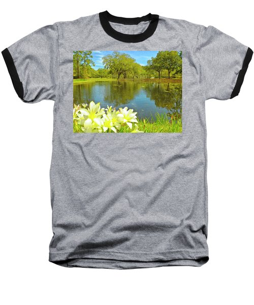 Botanical Gardens Pond Baseball T-Shirt