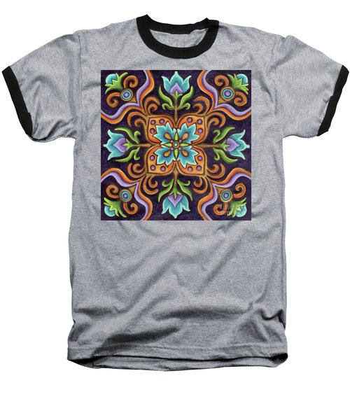 Botanical Mandala 12 Baseball T-Shirt