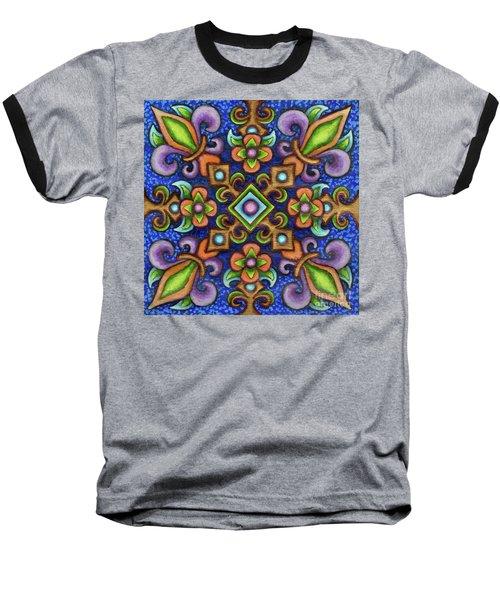 Botanical Mandala 3 Baseball T-Shirt