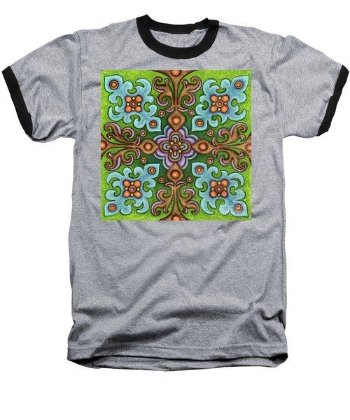 Botanical Mandala 4 Baseball T-Shirt