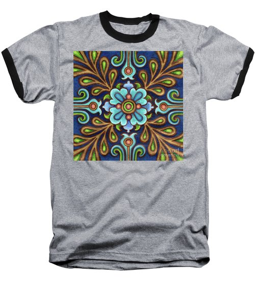 Botanical Mandala 9 Baseball T-Shirt
