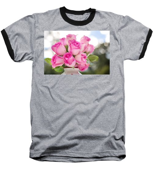 Bouquet Of Pink Roses Baseball T-Shirt