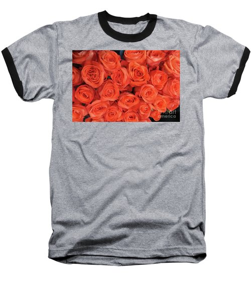 Bouquet Of The  Living Coral Roses Baseball T-Shirt