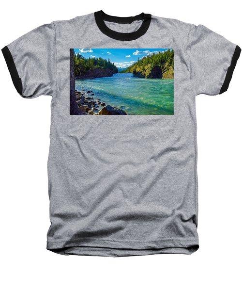 Bow River In Banff Baseball T-Shirt