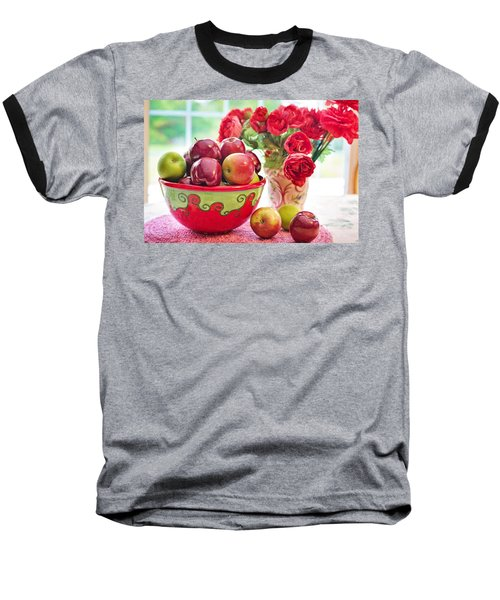 Bowl Of Red Apples Baseball T-Shirt