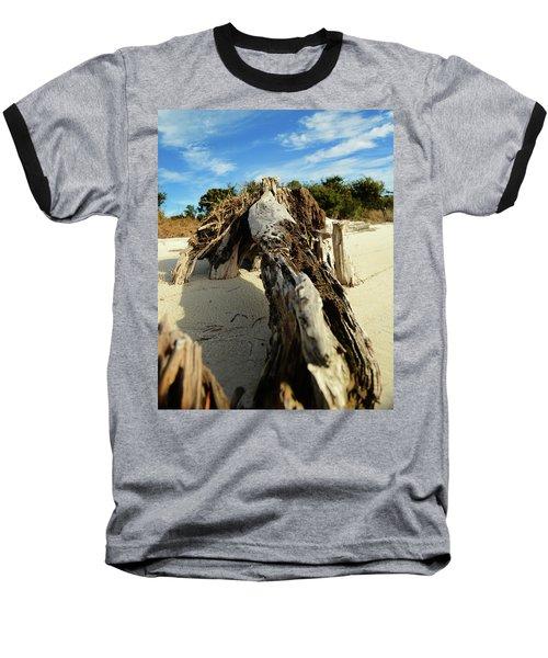 Branch On Beach Baseball T-Shirt