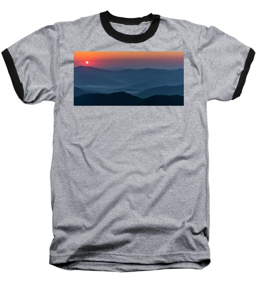 Baseball T-Shirt featuring the photograph Brasstop Bald Sunrise Panorama by Andy Crawford