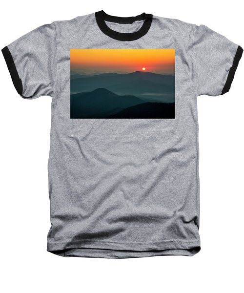 Baseball T-Shirt featuring the photograph Brasstown Bald Sunrise by Andy Crawford