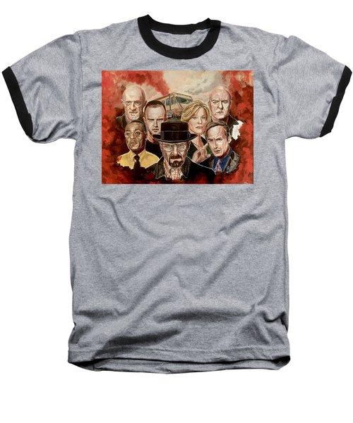 Breaking Bad Family Portrait Baseball T-Shirt