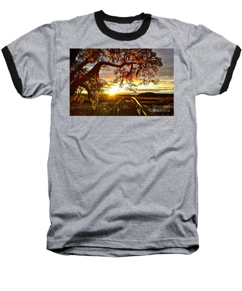 Baseball T-Shirt featuring the photograph Breaking Sunset by Robert Knight