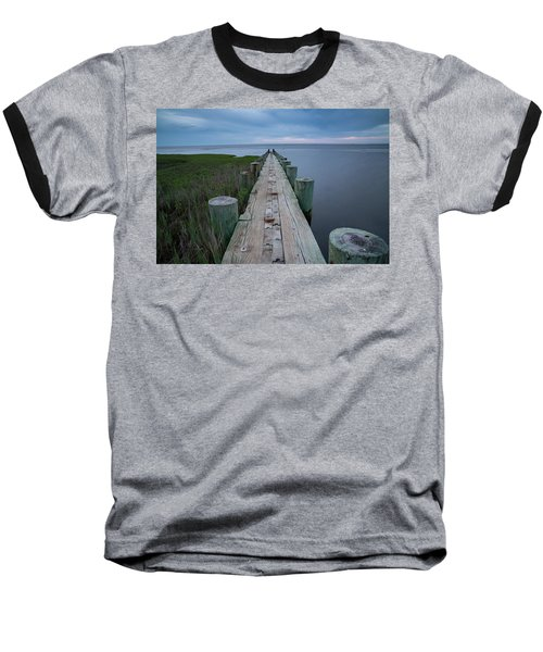 Breakwater At Harvey Beach In Old Saybrook Baseball T-Shirt
