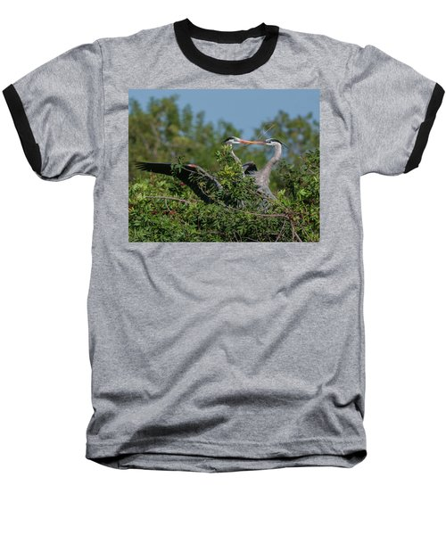 Breeding Herons Baseball T-Shirt