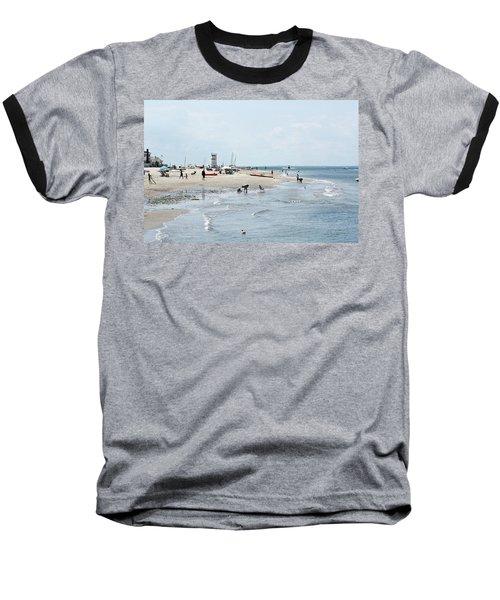 Breezy Point Lighthouse Summer Days Baseball T-Shirt