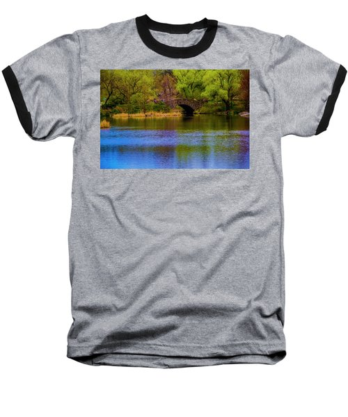 Bridge In Central Park Baseball T-Shirt