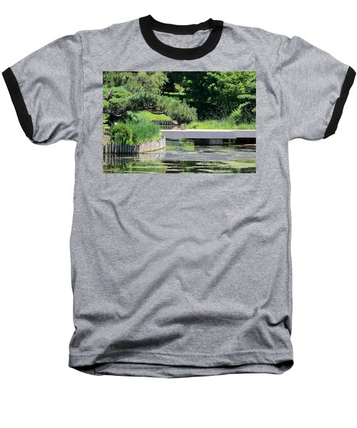Bridge Over Pond In Japanese Garden Baseball T-Shirt
