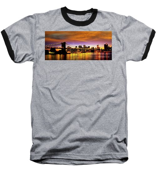 Bridging The East River Baseball T-Shirt
