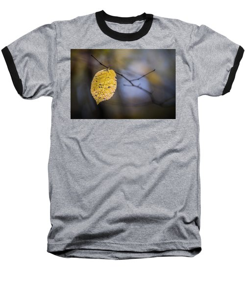 Baseball T-Shirt featuring the photograph Bright Fall Leaf 1 by Michael Arend