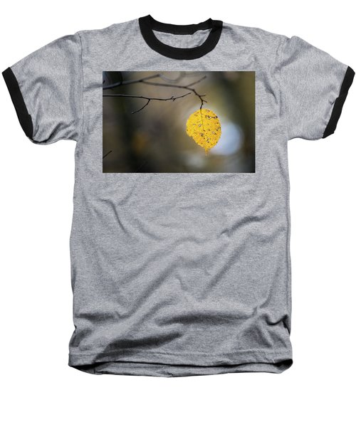 Baseball T-Shirt featuring the photograph Bright Fall Leaf 6 by Michael Arend
