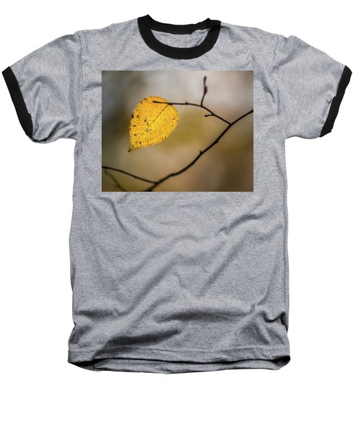 Baseball T-Shirt featuring the photograph Bright Fall Leaf 9 by Michael Arend